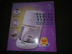 Toastmaster 10 Cup Coffee Maker With Programmable Digital Cl