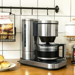BESTEK 10 Cup Drip Coffee Maker in Stainless Steel Programma