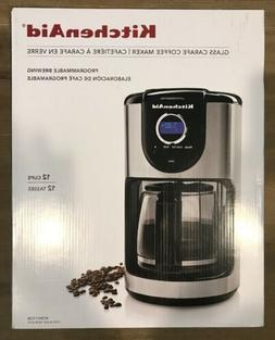 KitchenAid 12-Cup Glass Carafe Coffee Maker Programmable Bre