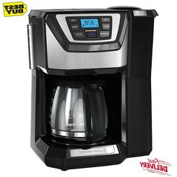 12 Cup Programmable Coffee Maker With Grinder Mill And Brew