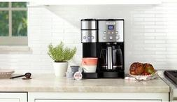 Cuisinart 12-Cup Stainless Coffeemaker and Single-Serve Brew