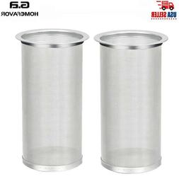 2X Reusable Mesh Coffee Maker Cold Brew Coffee Tea Filter In