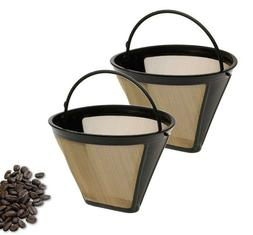 2Pcs For Cuisinart Coffee Filter Permanent Coffee Maker Bask