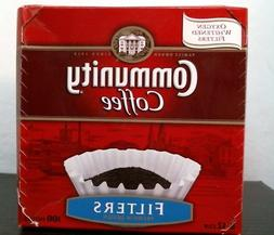 Community Coffee 43100 Filters, 100ct. 8-12 cup, FREE SHIPPI