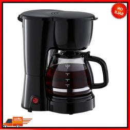 5 Cup Coffee Maker with Removable Filter Basket, Easy Pour,