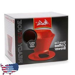Melitta 64008 2 Pack Single Cup Coffee Brewers, Red, New, Fr