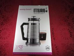 Bialetti 8-Cup French Press Coffee Maker, Premium Glass/Stai