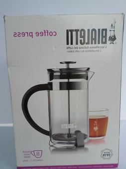 Bialetti 8-Cup French Press Coffee Maker, Stainless Steel