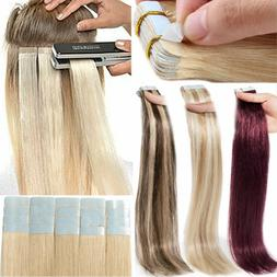 8A Russian 150G Tape In Thick Glue Remy Real Human Hair Exte