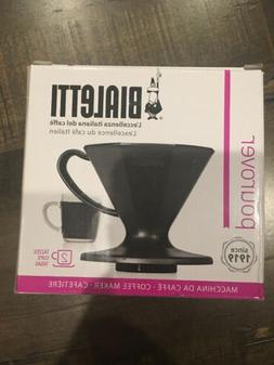 Black Pour Over Coffee Makers Plastic Pourover Dripper Kitch