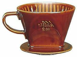 Kalita Ceramic Coffee Dripper Brown for 2-4 Cups