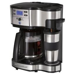 Hamilton Beach 2-Way Coffee Brewer Machine Kitchen Maker New