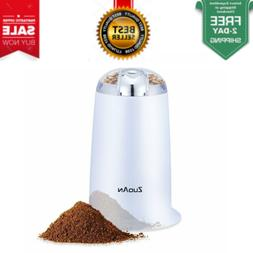 Coffee Grinder Automatic Electric with Steel Blades & Safety