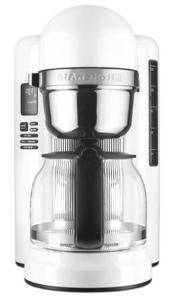 Coffee Maker KitchenAid 12 Cup with One Touch Brewing - Whit
