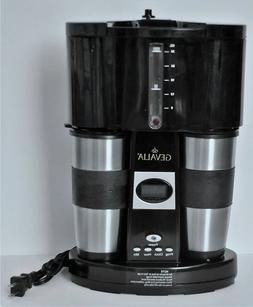 Gevalia Coffee Maker for Two Programmable Stainless Travel M