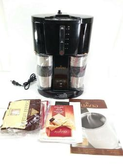 Gevalia Coffee Maker for Two w/ 2 Stainless Travel Mugs WS-0