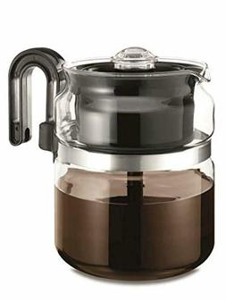 Coffee Maker Stove Top 8 Cup Thermal Pot Glass Kitchen Perco
