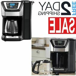 Coffee Maker With Grinder Built In Timer Automatic Drip Elec