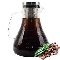Cold Brew Coffee Maker Glass, Iced Coffee Maker & Iced Tea M