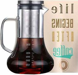 Cold Brew Iced Coffee Maker Glass Carafe with Tea Infuser Ai