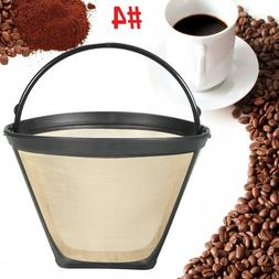Reusable #4 Cone Coffee Filter for Cuisinart Makers Premium