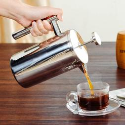 French Press Coffee Maker Double Walled Stainless Steel Espr