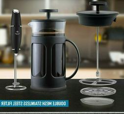 French Press Coffee Maker Stainless Steel 8 Cup 34oz Tea 1 L
