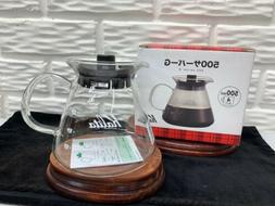 Kalita Glass 4 Cup Coffee Pot for Drip Server #500G New in B