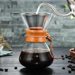 Glass Coffee Maker Chemex Style Coffeemaker Pour Over Coffee