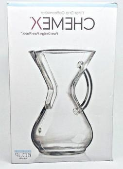 Chemex - Glass Filter-Drip Coffee Maker, 6 Cup, Glass Handle