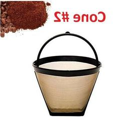 GoldTone Reusable #2 Cone Coffee Filters for Cuisinart Coffe