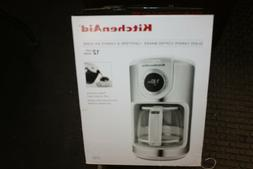 KitchenAid KCM1202WH 12-Cup Coffee Maker with One Touch Brew