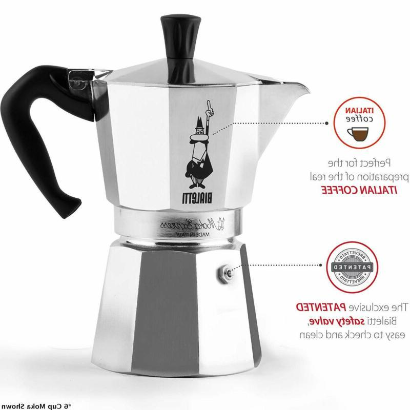 The Original Bialetti Moka Express Made Italy 9-Cup Stovetop