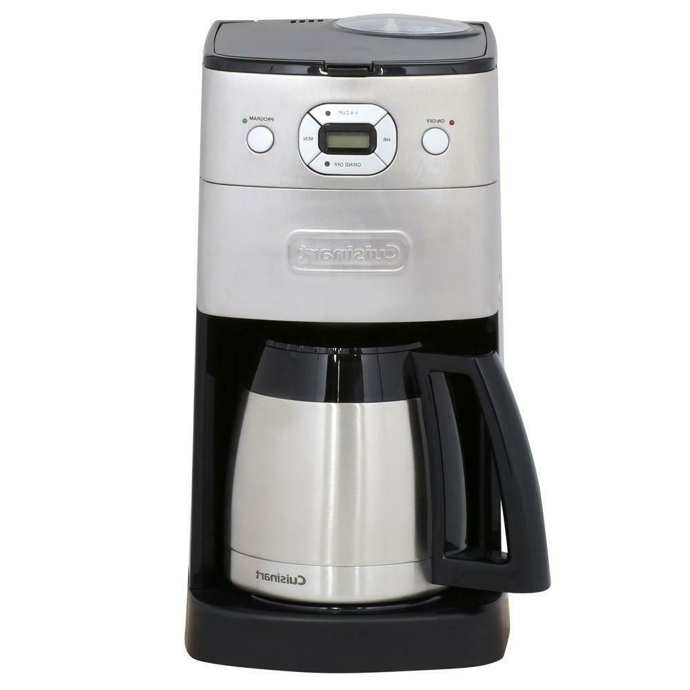 10-Cup Automatic Coffee Maker With Coffee-Bean Grinder Fully