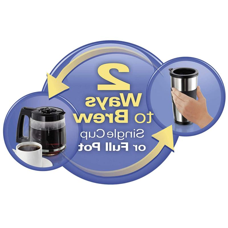 2-Way Single-Serve 12-Cup Stainless