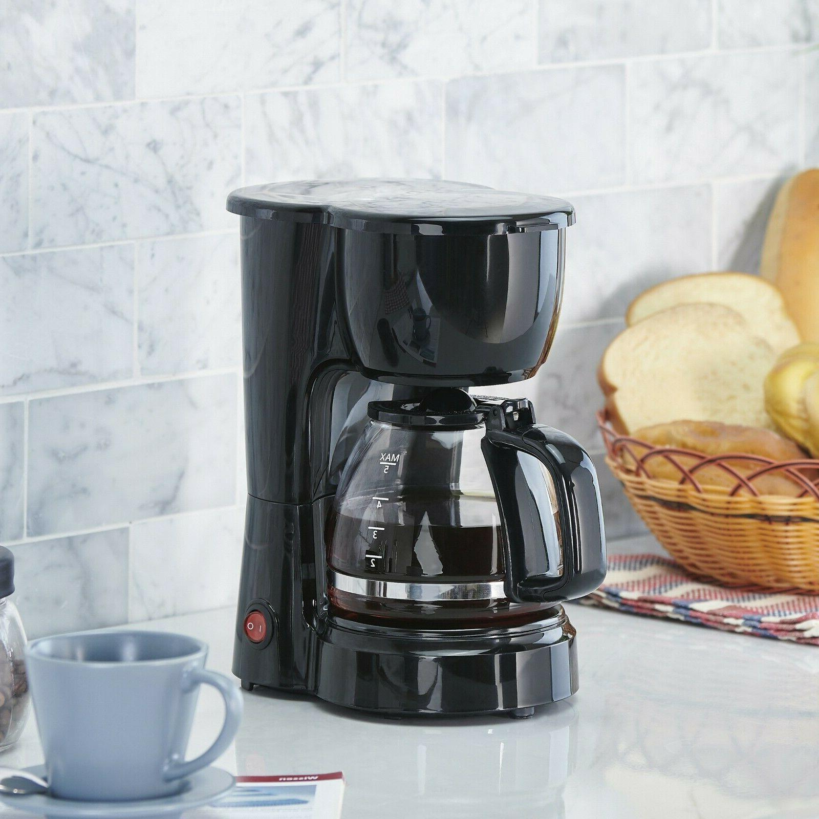 5 Cup Coffee Brew Kitchen Appliance Electric Brewer Home Black