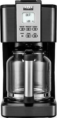 Bella - Pro Series 14-Cup Coffeemaker - Black stainless stee