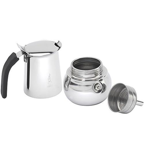 Bialetti Kitty Stove top Coffee Stainless Steel