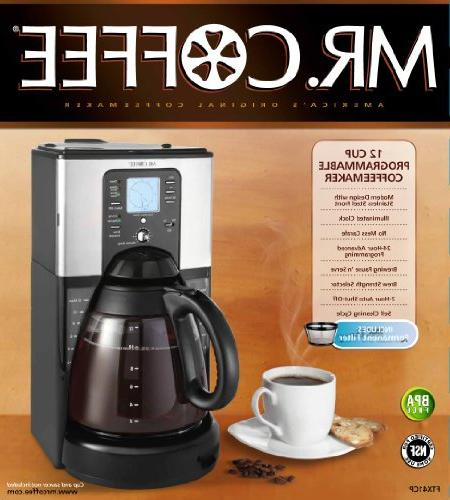 Mr. Coffee Brew 12-Cup Programmable Stainless Steel