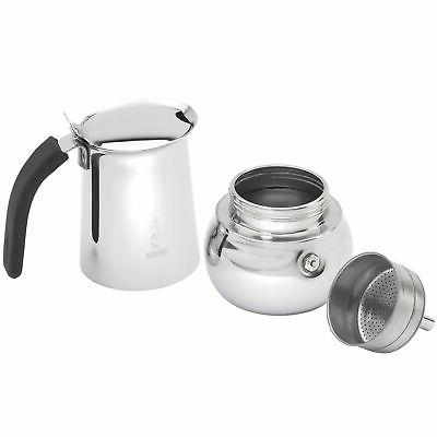 Brand New Bialetti Kitty Coffee Stainless Steel, 6
