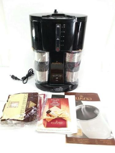 coffee maker for two w 2 stainless