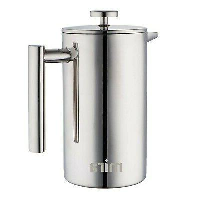 double wall stainless steel french