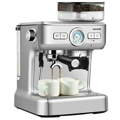 Two Cup Espresso Coffee Maker With Built In Steamer Frother