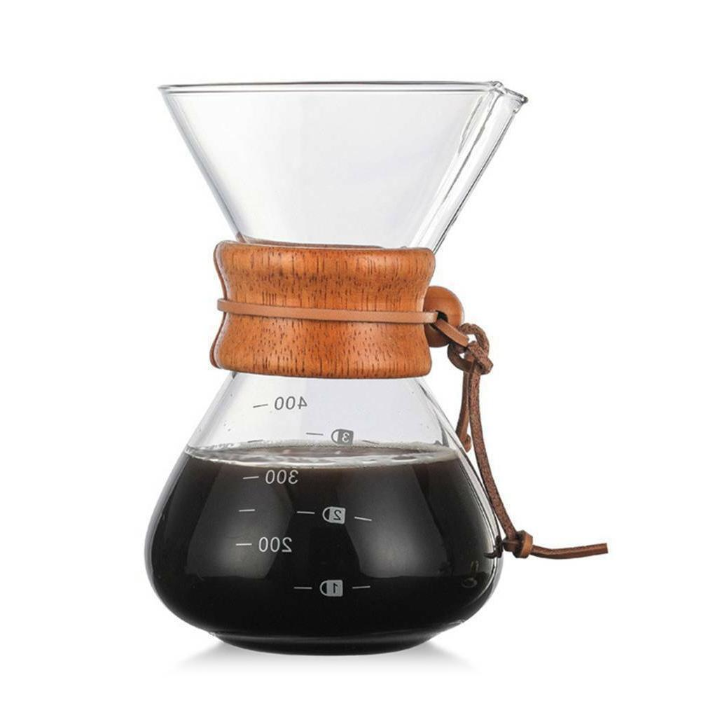 Glass Style Pour Over Coffee Pot Collar