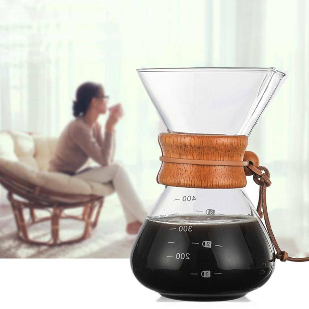 Glass Coffee Maker Style Over Collar