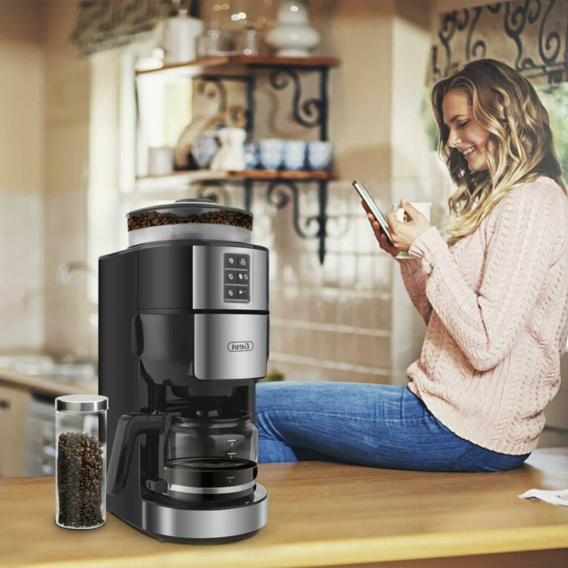 Grind and Brew Maker Built-In Coffee Grinder, Programmalbe Drip