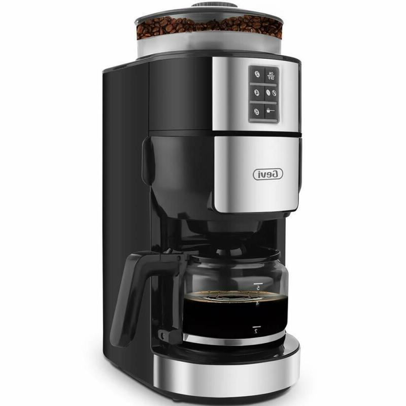 grind and brew coffee maker with built
