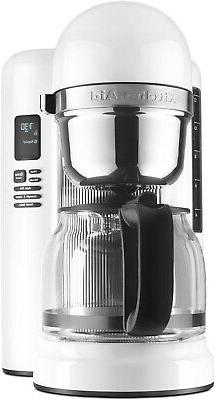 KitchenAid KCM1204WH 12-Cup Coffee Maker with One Touch Brew