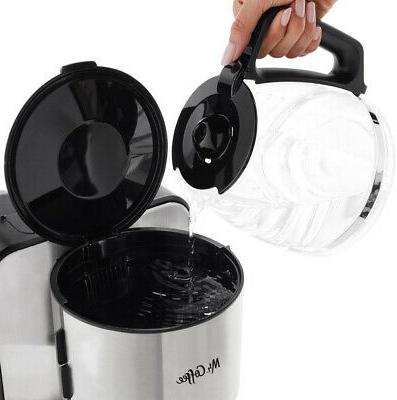 MR. 12-Cup Drip Coffee with Water Filtration System