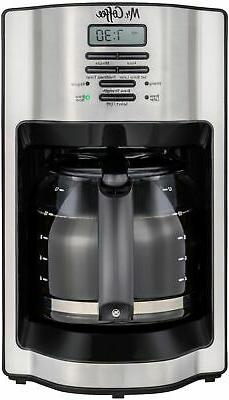 Mr. Coffee 12-Cup Programmable Coffee Maker with Rapid Brew